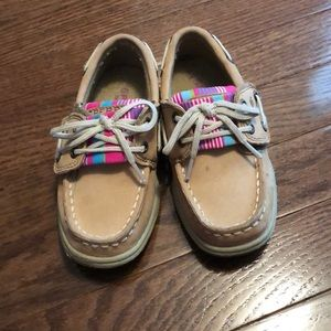 Size 9- Girls Sperry Boat shoes.